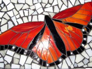 """Мозаика из стекла. Делаем """"Бабочку"""". Ярмарка Мастеров - ручная работа, handmade."""
