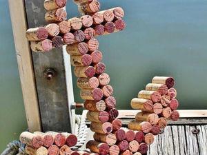 Необычный декор из винных пробок. Ярмарка Мастеров - ручная работа, handmade.