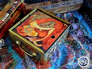 Коробка для чая превращается в восточную шкатулку, мастер-класс.. Ярмарка Мастеров - ручная работа, handmade.