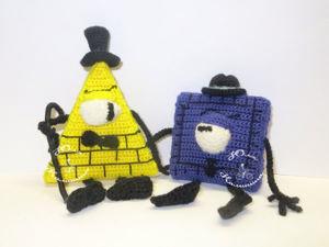 «Тэд Стрэндж и Билл Шифр». Вяжем крючком героев мультсериала  «Гравити Фолз». Ярмарка Мастеров - ручная работа, handmade.