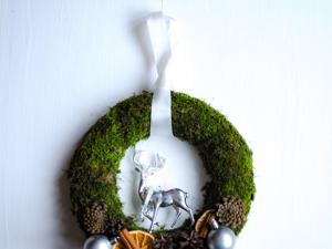 Создаем новогодний венок из мха. Ярмарка Мастеров - ручная работа, handmade.
