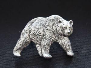 Новый крупный значок Медведь. Ярмарка Мастеров - ручная работа, handmade.