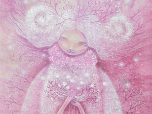 Картина  В ПОДАРОК! Ангелы цветущих садов. Ярмарка Мастеров - ручная работа, handmade.