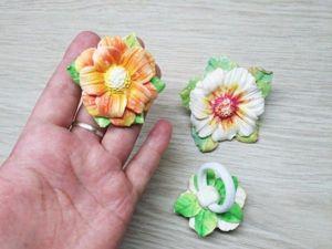 Видео мастер-класс: создаем из полимерной глины заколку-цветок на резинке. Ярмарка Мастеров - ручная работа, handmade.