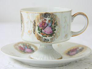 Винтажная коллекционная чайная пара. Ярмарка Мастеров - ручная работа, handmade.