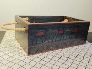 Расписываем ящик в стиле мезенской росписи. Ярмарка Мастеров - ручная работа, handmade.