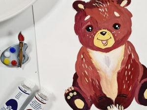 Пошаговый урок рисования «Медвежонок». Ярмарка Мастеров - ручная работа, handmade.