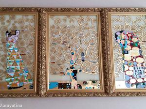 Скидка -15 % на Триптих по мотивам Г.Климта  «Древо жизни». Ярмарка Мастеров - ручная работа, handmade.
