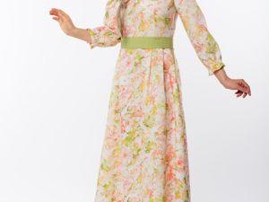Платье Льняное Цветущий Шиповник. Ярмарка Мастеров - ручная работа, handmade.