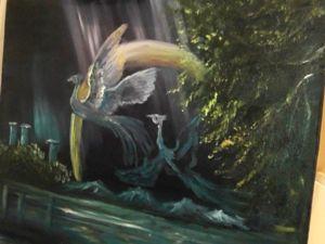 Видео мастер-класс по живописи «Птицы счастья».Часть 2. Ярмарка Мастеров - ручная работа, handmade.