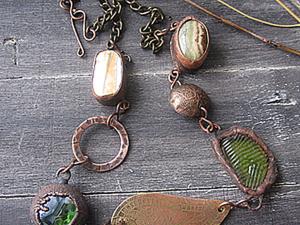 """Изготовление ожерелья """"Осень"""". Часть 1: подготовка металлической фурнитуры. Ярмарка Мастеров - ручная работа, handmade."""