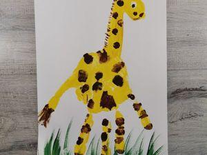 Как нарисовать жирафа? Пальчиковый метод. Ярмарка Мастеров - ручная работа, handmade.