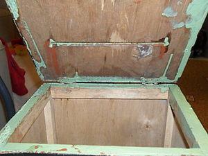 Чудесное преображение из старого ящика в стильный пуфик. Ярмарка Мастеров - ручная работа, handmade.