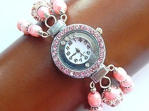 Делаем часы с браслетом из жемчуга в три нити. Ярмарка Мастеров - ручная работа, handmade.