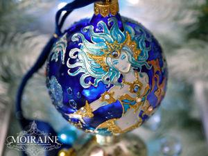 Коллекционный стеклянный елочный шар  «Королева моря» . Видео. Ярмарка Мастеров - ручная работа, handmade.