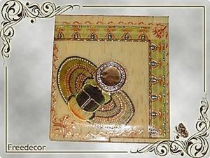 Декорирование зеркальца «Скарабей». Ярмарка Мастеров - ручная работа, handmade.