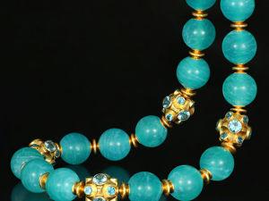 Колье с амазонитом эксклюзивное. Ожерелье из амазонита. Ярмарка Мастеров - ручная работа, handmade.
