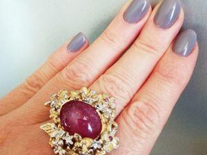 Скидка на потрясающе красивое кольцо с природным рубином!. Ярмарка Мастеров - ручная работа, handmade.