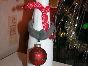 Мастерим новогоднюю овечку на бутылку шампанского. Ярмарка Мастеров - ручная работа, handmade.