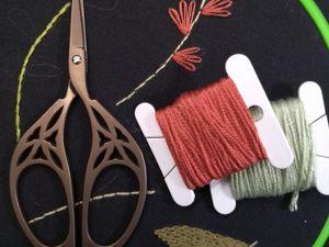 Тамбурный стежок. Мастер-класс для начинающих вышивальщиц. Ярмарка Мастеров - ручная работа, handmade.