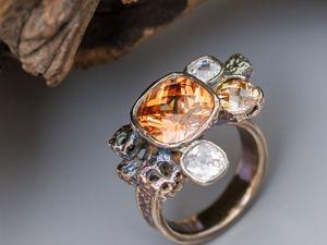 Процесс изготовления кольца с цирконами из металлической глины. Ярмарка Мастеров - ручная работа, handmade.
