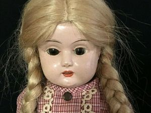 MINERVA Антикварная куколка с металлической головой. Ярмарка Мастеров - ручная работа, handmade.