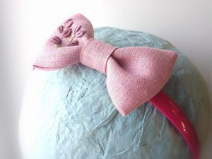 Изготавливаем бантик из ткани на заколку. Ярмарка Мастеров - ручная работа, handmade.