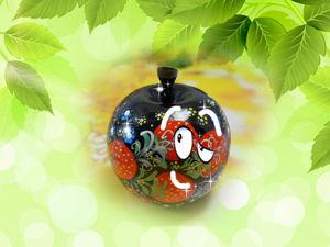 Видео мастер-класс: роспись по дереву — яблоко. Ярмарка Мастеров - ручная работа, handmade.
