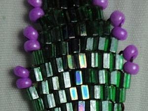 Плетем листик из рубки и бисера.. Ярмарка Мастеров - ручная работа, handmade.