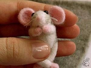 Мастер-класс по сухому валянию. Сувенир «Ручной крысенок». Ярмарка Мастеров - ручная работа, handmade.