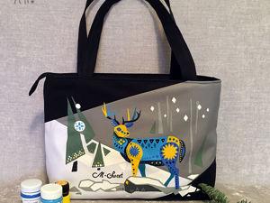 Зимние мотивы в женской сумке. Ярмарка Мастеров - ручная работа, handmade.