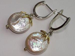 Серебряные серьги с барочным жемчугом  « Ассоль» . Ярмарка Мастеров - ручная работа, handmade.