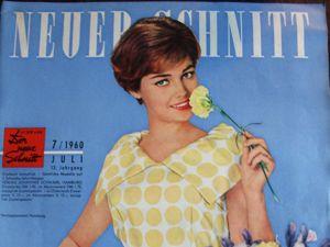 Neuer Schnitt — старый немецкий журнал мод 7/1960. Ярмарка Мастеров - ручная работа, handmade.