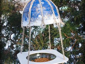 Мастерим новогоднюю кормушку для птиц. Ярмарка Мастеров - ручная работа, handmade.