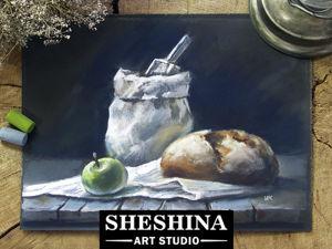 Рисуем натюрморт с хлебом сухой пастелью: видеоурок. Ярмарка Мастеров - ручная работа, handmade.