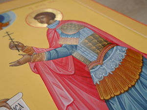 Работа над иконой Преподобного Паисия Великого и Святого Уара. Ярмарка Мастеров - ручная работа, handmade.