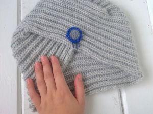 Видеоурок: очень просто вяжем шапку-чалму спицами. Ярмарка Мастеров - ручная работа, handmade.