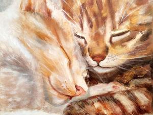 Осень-время теплых котов!. Ярмарка Мастеров - ручная работа, handmade.