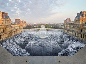 Grand Optical Illusion at Louvre Destroyed Soon after Opening. Livemaster - handmade