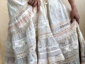 Юбка Каролина Cream из шитья и кружева в стиле бохо. Ярмарка Мастеров - ручная работа, handmade.