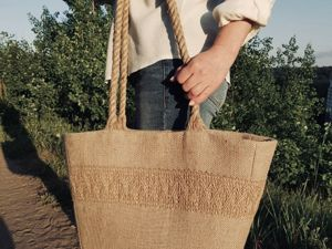 Пляжная джутовая сумка  «Кейптаун» . В наличии!. Ярмарка Мастеров - ручная работа, handmade.