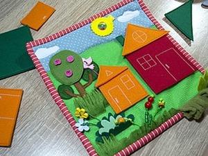 Делаем страничку развивающей книжки «Строим домики». Ярмарка Мастеров - ручная работа, handmade.