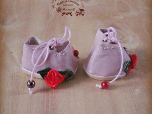 Делаем туфельки для куклы со стелькой из ткани. Ярмарка Мастеров - ручная работа, handmade.