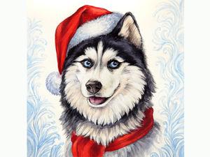 Новогодние портреты домашних животных. Ярмарка Мастеров - ручная работа, handmade.