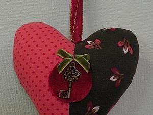 """Как сделать текстильное сердечко """"Две половинки"""". Ярмарка Мастеров - ручная работа, handmade."""