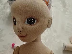 Мастер-класс: крепление головы куклы. Ярмарка Мастеров - ручная работа, handmade.