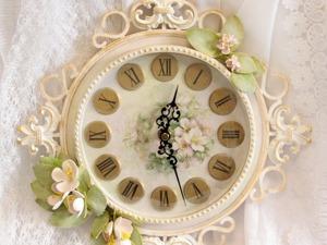 Декорируем винтажные часы. Ярмарка Мастеров - ручная работа, handmade.