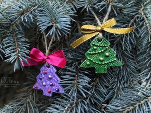 Делаем новогодние украшения — ёлочки. Ярмарка Мастеров - ручная работа, handmade.