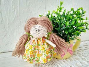 Мастер-класс по вязанию куколки амигуруми. Ярмарка Мастеров - ручная работа, handmade.