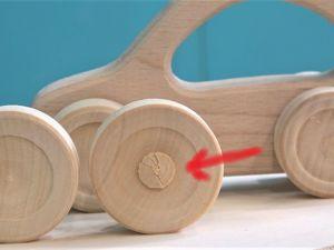 Деревянные колеса. Делаем аккуратное углубление не повреждая лицевую сторону. Ярмарка Мастеров - ручная работа, handmade.